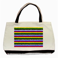 Horizontal Basic Colors Curly Stripes Classic Tote Bag by BestCustomGiftsForYou