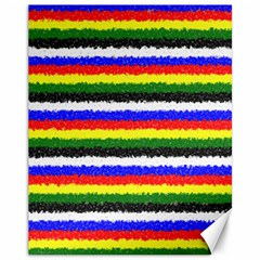 Horizontal Basic Colors Curly Stripes Canvas 11  X 14  (unframed) by BestCustomGiftsForYou