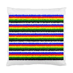 Horizontal Basic Colors Curly Stripes Cushion Case (two Sided)  by BestCustomGiftsForYou