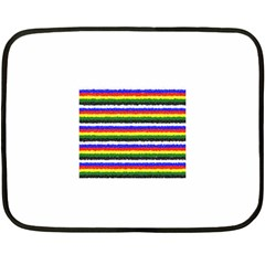 Horizontal Basic Colors Curly Stripes Mini Fleece Blanket (two Sided) by BestCustomGiftsForYou
