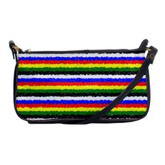 Horizontal Basic Colors Curly Stripes Evening Bag by BestCustomGiftsForYou