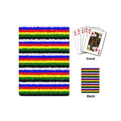 Horizontal Basic Colors Curly Stripes Playing Cards (mini) by BestCustomGiftsForYou