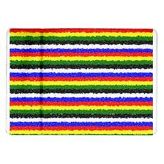 Horizontal Basic Colors Curly Stripes Samsung Galaxy Tab 10 1  P7500 Flip Case by BestCustomGiftsForYou