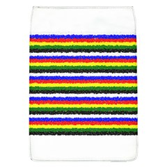 Horizontal Basic Colors Curly Stripes Removable Flap Cover (large) by BestCustomGiftsForYou