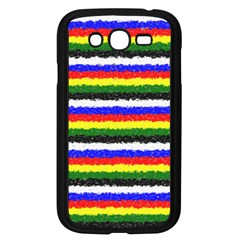 Horizontal Basic Colors Curly Stripes Samsung Galaxy Grand DUOS I9082 Case (Black) by BestCustomGiftsForYou
