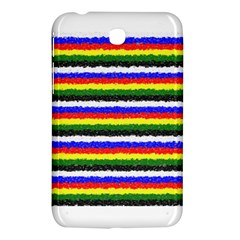 Horizontal Basic Colors Curly Stripes Samsung Galaxy Tab 3 (7 ) P3200 Hardshell Case  by BestCustomGiftsForYou