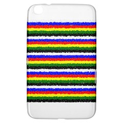 Horizontal Basic Colors Curly Stripes Samsung Galaxy Tab 3 (8 ) T3100 Hardshell Case  by BestCustomGiftsForYou
