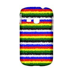 Horizontal Basic Colors Curly Stripes Samsung Galaxy S6310 Hardshell Case by BestCustomGiftsForYou