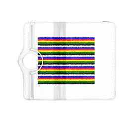 Horizontal Basic Colors Curly Stripes Kindle Fire Hdx 8 9  Flip 360 Case by BestCustomGiftsForYou