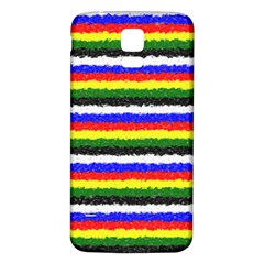 Horizontal Basic Colors Curly Stripes Samsung Galaxy S5 Back Case (white) by BestCustomGiftsForYou