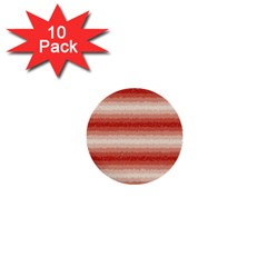 Horizontal Red Curly Stripes 1  Mini Button (10 Pack) by BestCustomGiftsForYou