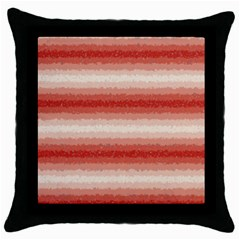 Horizontal Red Curly Stripes Black Throw Pillow Case by BestCustomGiftsForYou