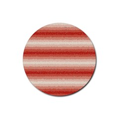 Horizontal Red Curly Stripes Drink Coasters 4 Pack (round) by BestCustomGiftsForYou
