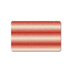 Horizontal Red Curly Stripes Magnet (name Card) by BestCustomGiftsForYou