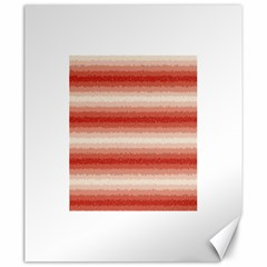Horizontal Red Curly Stripes Canvas 20  X 24  (unframed) by BestCustomGiftsForYou