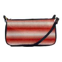 Horizontal Red Curly Stripes Evening Bag by BestCustomGiftsForYou