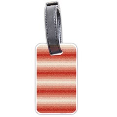 Horizontal Red Curly Stripes Luggage Tag (one Side) by BestCustomGiftsForYou