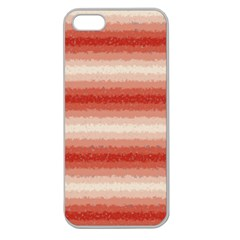 Horizontal Red Curly Stripes Apple Seamless Iphone 5 Case (clear) by BestCustomGiftsForYou