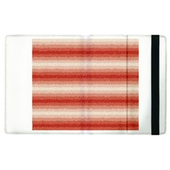 Horizontal Red Curly Stripes Apple Ipad 2 Flip Case by BestCustomGiftsForYou