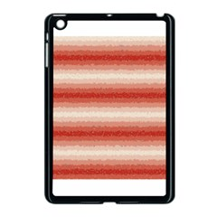 Horizontal Red Curly Stripes Apple Ipad Mini Case (black) by BestCustomGiftsForYou