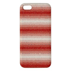 Horizontal Red Curly Stripes Apple Iphone 5 Premium Hardshell Case by BestCustomGiftsForYou