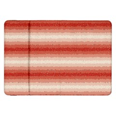 Horizontal Red Curly Stripes Samsung Galaxy Tab 8.9  P7300 Flip Case by BestCustomGiftsForYou