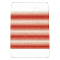 Horizontal Red Curly Stripes Removable Flap Cover (large) by BestCustomGiftsForYou