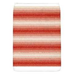 Horizontal Red Curly Stripes Removable Flap Cover (small) by BestCustomGiftsForYou
