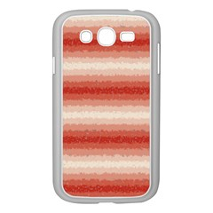 Horizontal Red Curly Stripes Samsung Galaxy Grand Duos I9082 Case (white) by BestCustomGiftsForYou