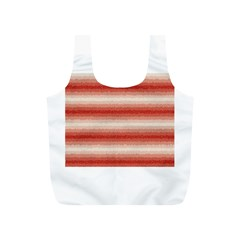 Horizontal Red Curly Stripes Reusable Bag (s) by BestCustomGiftsForYou