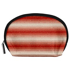 Horizontal Red Curly Stripes Accessory Pouch (large) by BestCustomGiftsForYou
