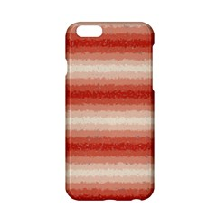 Horizontal Red Curly Stripes Apple Iphone 6 Hardshell Case by BestCustomGiftsForYou