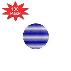Horizontal Dark Blue Curly Stripes 1  Mini Button Magnet (100 Pack) by BestCustomGiftsForYou