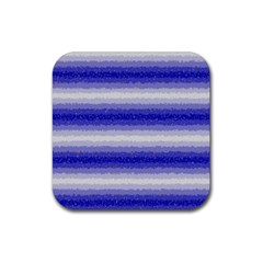Horizontal Dark Blue Curly Stripes Drink Coaster (square) by BestCustomGiftsForYou