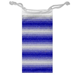 Horizontal Dark Blue Curly Stripes Jewelry Bag by BestCustomGiftsForYou