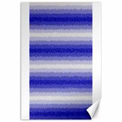 Horizontal Dark Blue Curly Stripes Canvas 12  X 18  (unframed) by BestCustomGiftsForYou