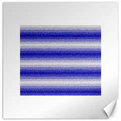 Horizontal Dark Blue Curly Stripes Canvas 20  X 20  (unframed) by BestCustomGiftsForYou