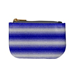 Horizontal Dark Blue Curly Stripes Coin Change Purse by BestCustomGiftsForYou
