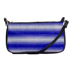 Horizontal Dark Blue Curly Stripes Evening Bag by BestCustomGiftsForYou
