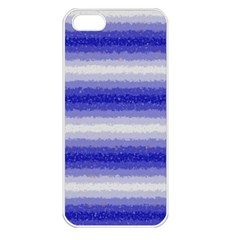 Horizontal Dark Blue Curly Stripes Apple Iphone 5 Seamless Case (white) by BestCustomGiftsForYou