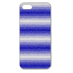 Horizontal Dark Blue Curly Stripes Apple Seamless Iphone 5 Case (clear) by BestCustomGiftsForYou