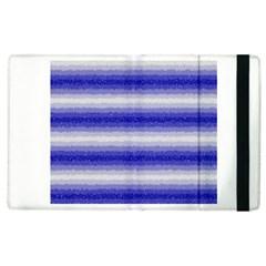 Horizontal Dark Blue Curly Stripes Apple Ipad 2 Flip Case by BestCustomGiftsForYou