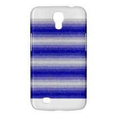 Horizontal Dark Blue Curly Stripes Samsung Galaxy Mega 6 3  I9200 Hardshell Case by BestCustomGiftsForYou
