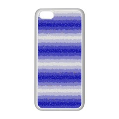 Horizontal Dark Blue Curly Stripes Apple Iphone 5c Seamless Case (white) by BestCustomGiftsForYou