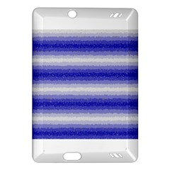 Horizontal Dark Blue Curly Stripes Kindle Fire Hd (2013) Hardshell Case by BestCustomGiftsForYou