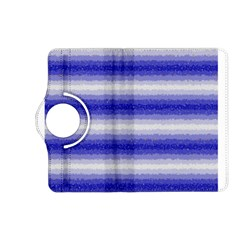 Horizontal Dark Blue Curly Stripes Kindle Fire Hd (2013) Flip 360 Case by BestCustomGiftsForYou