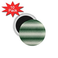 Horizontal Dark Green Curly Stripes 1 75  Button Magnet (10 Pack) by BestCustomGiftsForYou