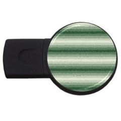 Horizontal Dark Green Curly Stripes 2GB USB Flash Drive (Round) by BestCustomGiftsForYou