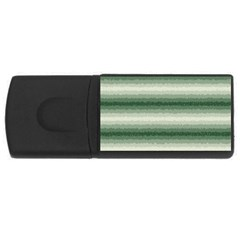 Horizontal Dark Green Curly Stripes 2GB USB Flash Drive (Rectangle) by BestCustomGiftsForYou