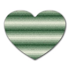 Horizontal Dark Green Curly Stripes Mouse Pad (heart) by BestCustomGiftsForYou